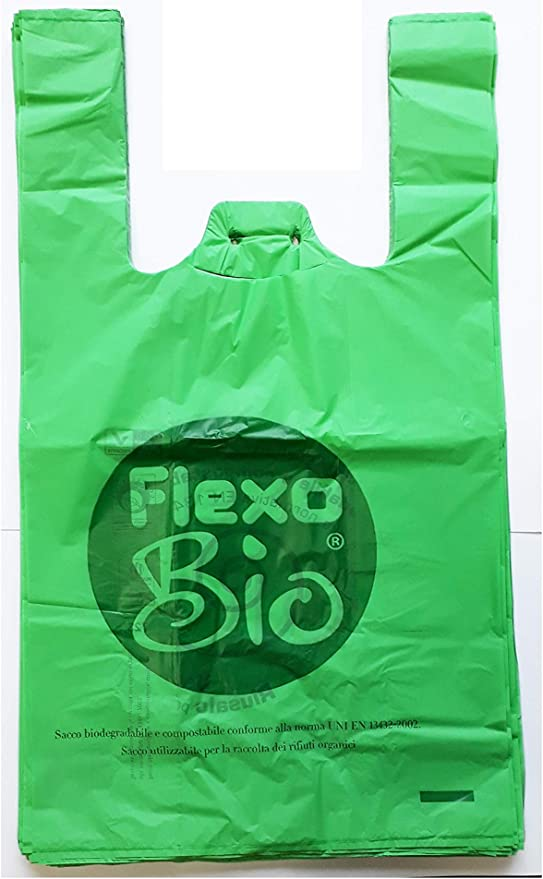 Plaxi - Bolsas biodegradables compostables, 22 + 12 x 40 cm ...