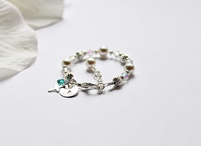 Amazon Com Sterling Silver Personalized Bracelet For Baby Girl