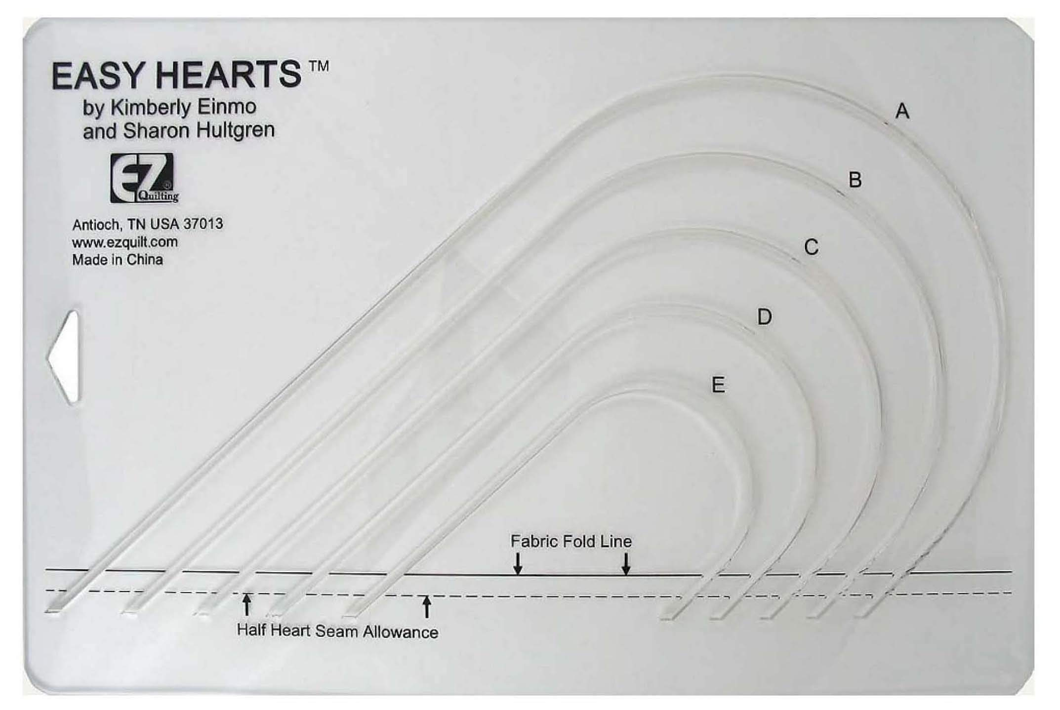 Easy Hearts Acrylic Template by EZ International