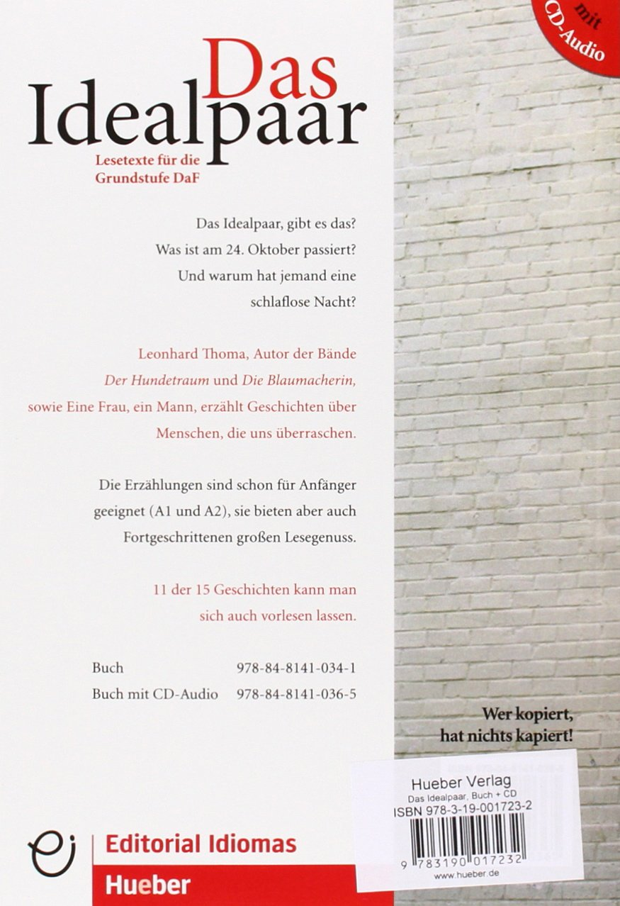 Das Idealpaar - Buch & CD: Leonhard Thoma: 9783190017232: Amazon ...