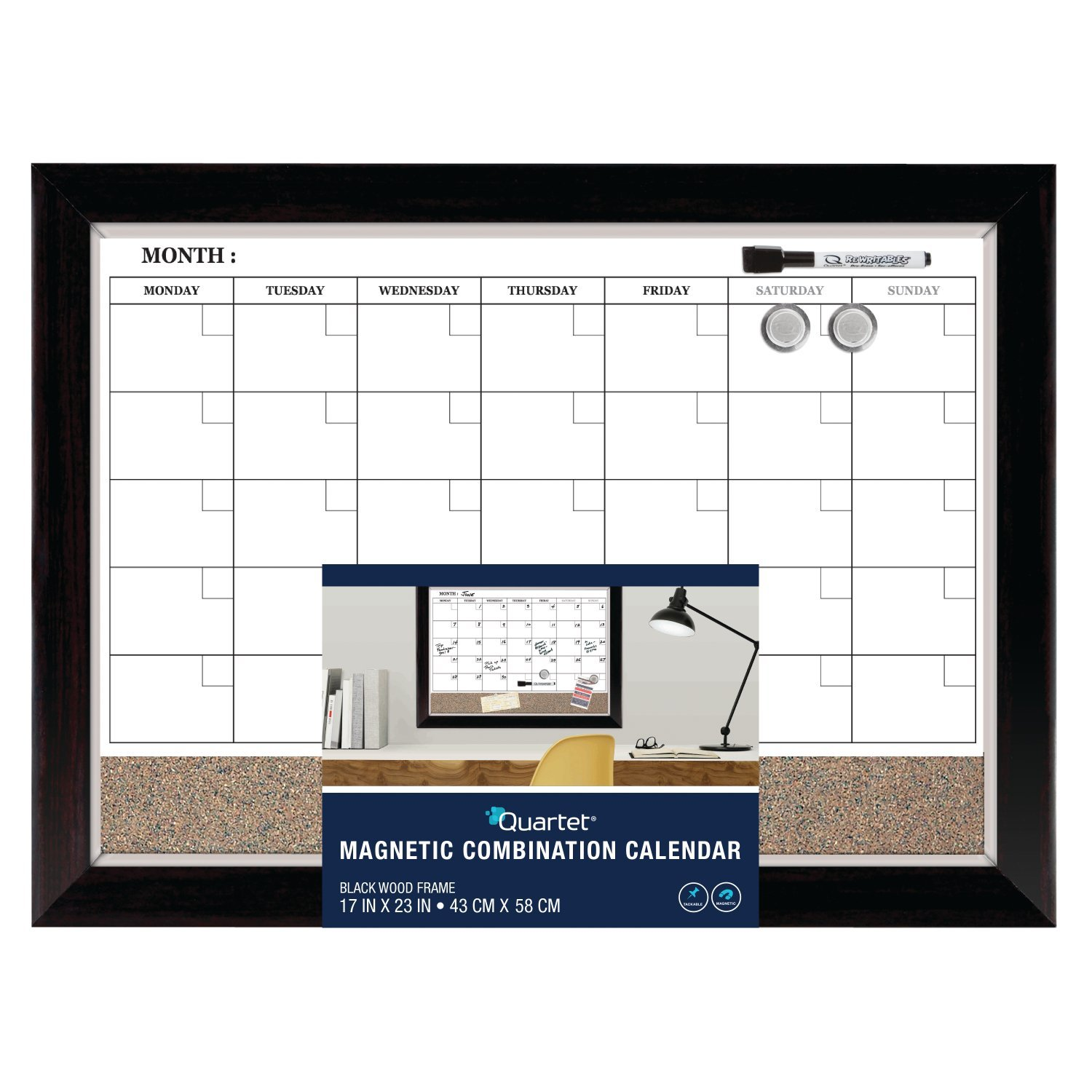 Amazon.com : Quartet Dry Erase Calendar Board, Planner, Magnetic ...