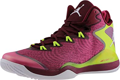 Jordan Super Fly 3 Fusion Pink Volt Deep Garnet Men Basketball Shoes
