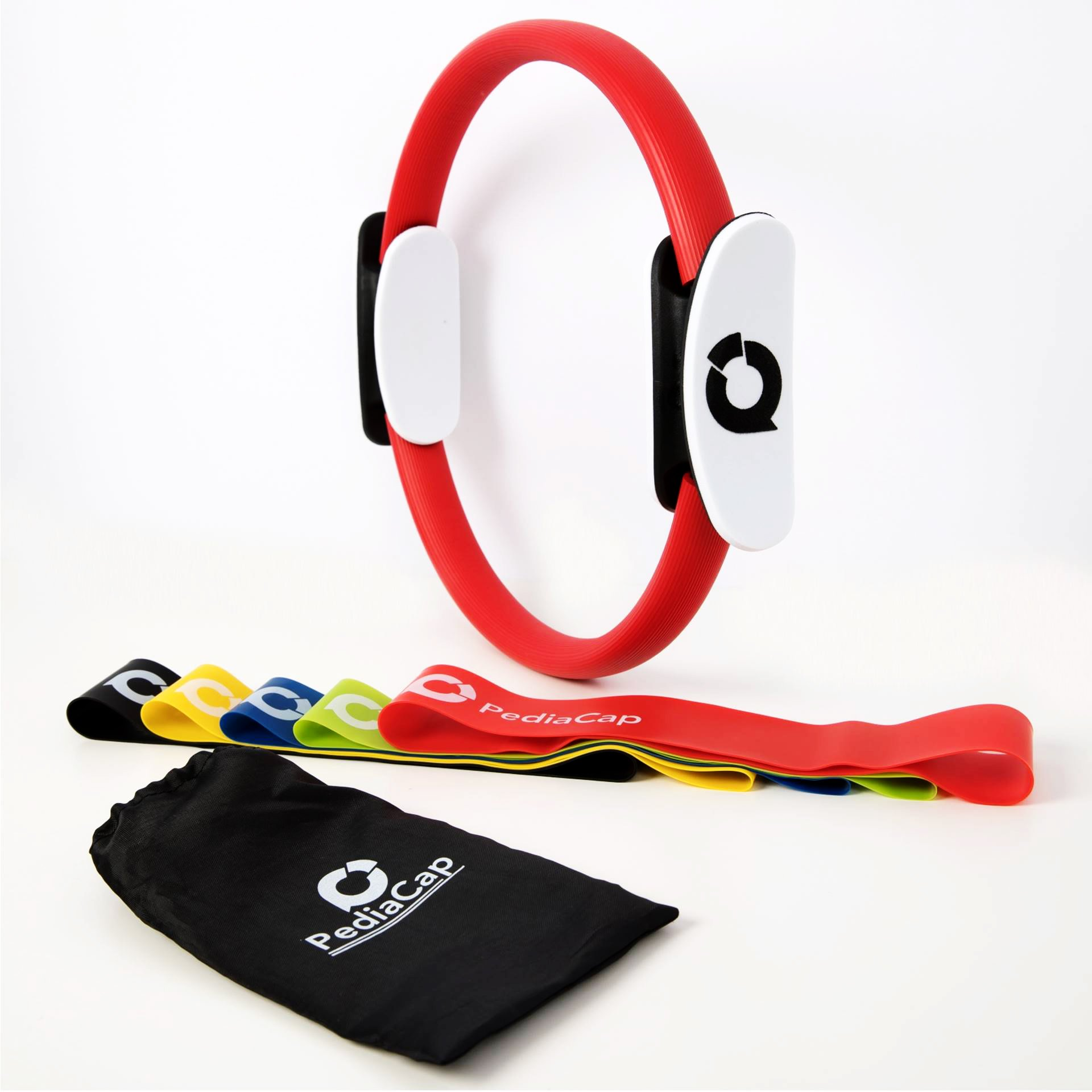 Pediacap Pilates Ring Magic Yoga Fitness Circle and Resistance Loop Exercise Bands with Carry Bag