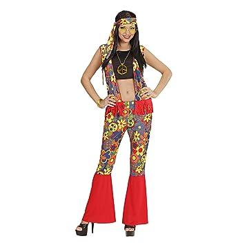 WIDMANN Widman - Disfraz de hippie años 60s para mujer, talla UK 8 ...