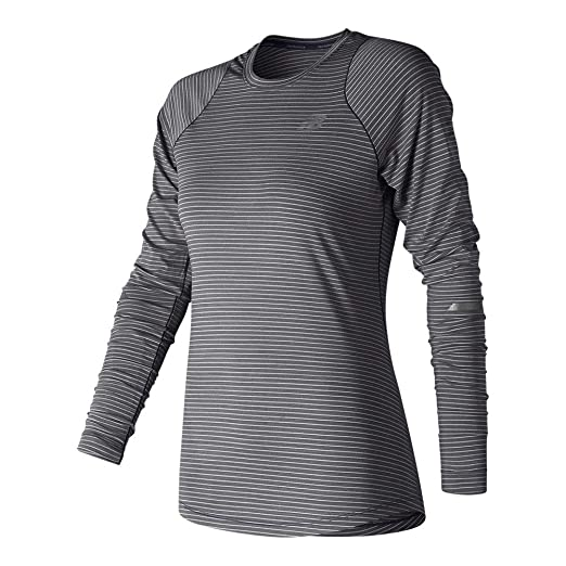 f0d9b970e0efa Amazon.com : New Balance Women's Seasonless UPF Long Sleeve Shirt : Clothing