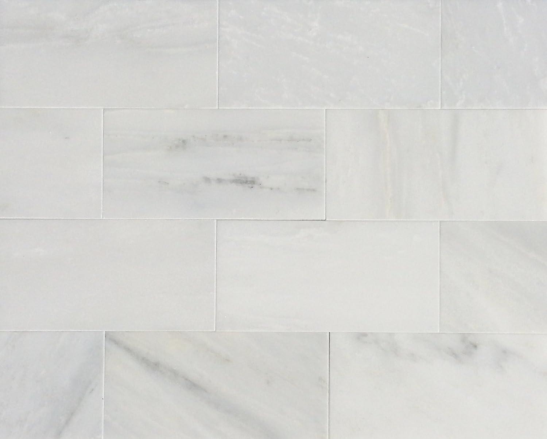 - Amazon.com : 3x6 White Carrara Honed Finish Subway Marble Tile