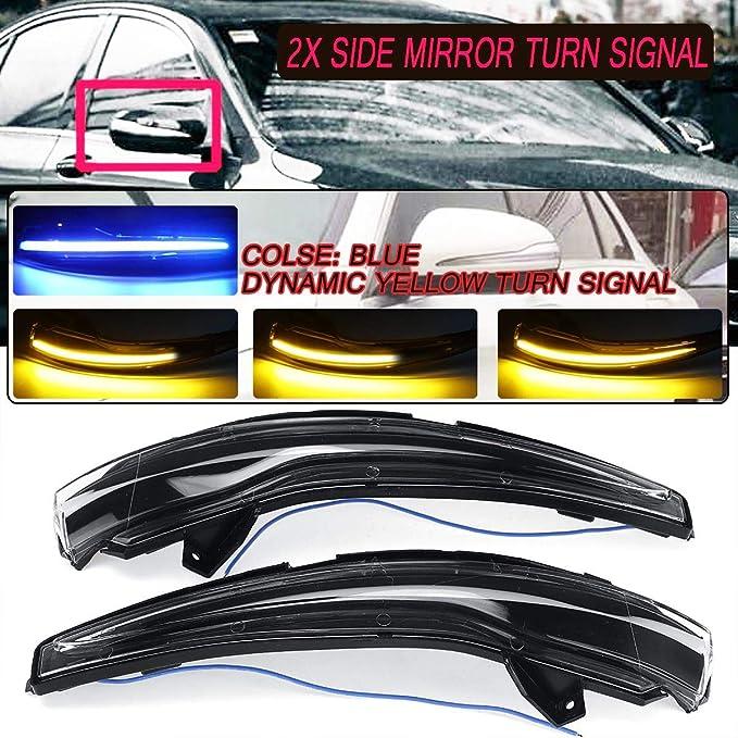 Sywan Ein Paar Dynamic Led Blinker Scan Blau Bis Eisblau Fließender Seitenspiegel Blinker Für Bmw C E S Glc Klasse Schwarz Auto