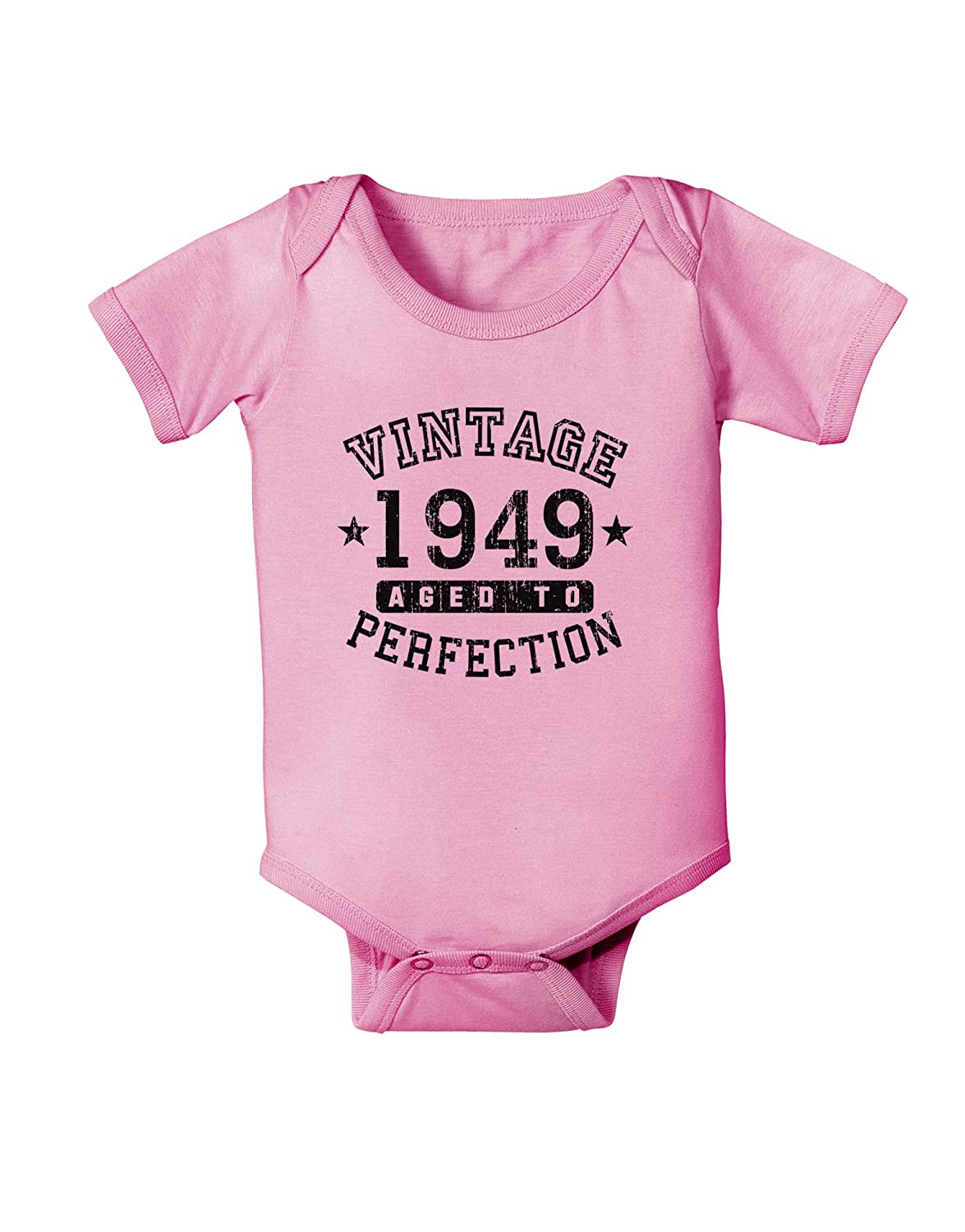 TooLoud 70th Birthday Vintage Birth Year 1949 Baby Romper Bodysuit