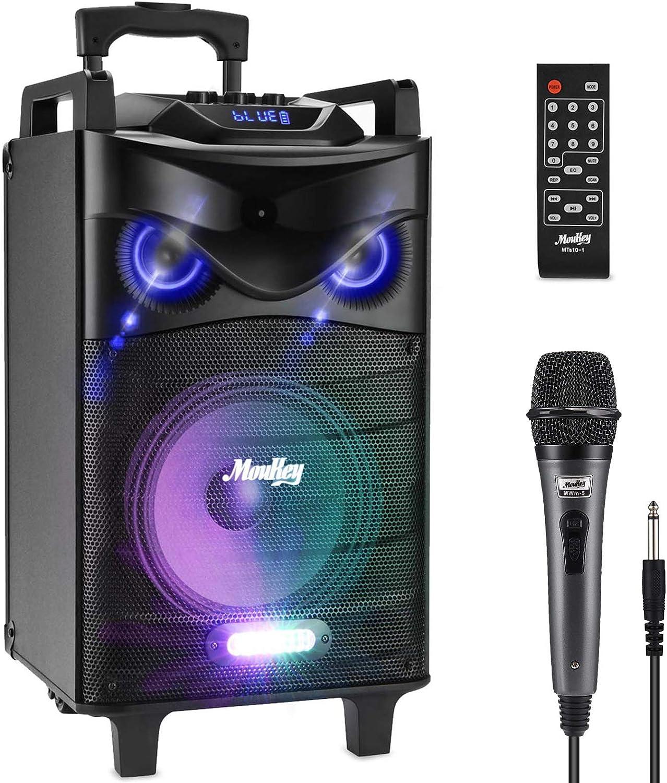 Moukey Portable Karaoke Machine - Bluetooth Karaoke Speaker PA System, 120 Watt with 8