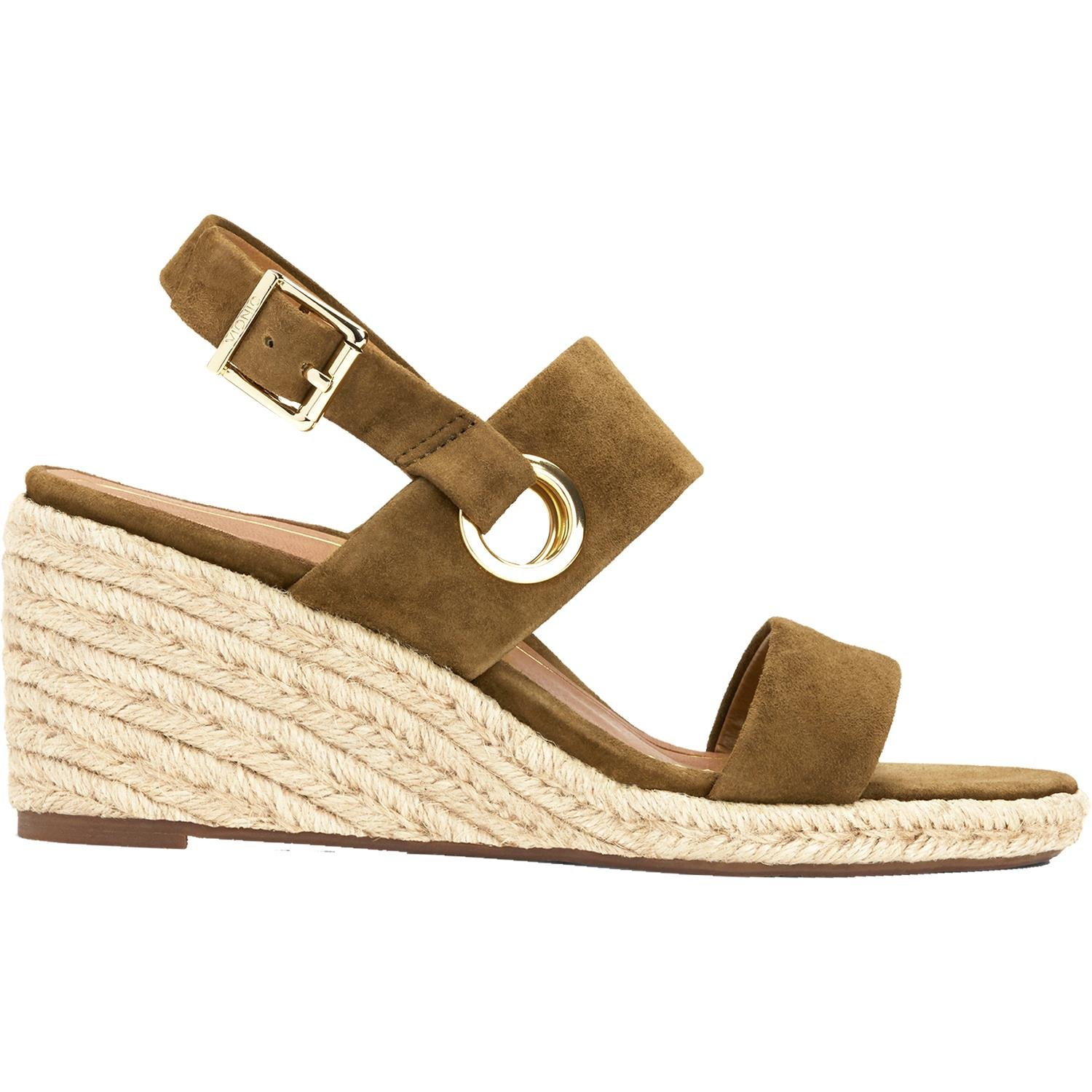 Vionic Tulum Vero - Womens Wedge Sandal Olive - 9.5 Medium