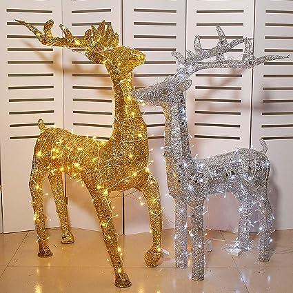 Light Up Renne de Noël Luxe Décoration Moving DEL debout Pâturage 35 cm