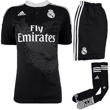 Adidas Real Madrid 3 AZ Juego f49263 Hombre Fútbol Camiseta/Camiseta/Fan Camiseta Negro, Hombre, Real Madrid 3 AZ Set, Negro, Large: Amazon.es: Deportes y ...