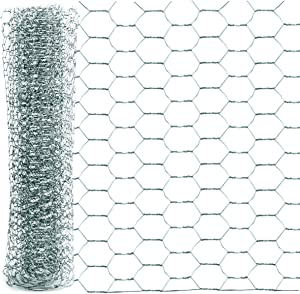 YG_Oline 1 Roll Chicken Wire Fence, Mesh Wire Cage Wire for Crafts Decor Cabinet, 13.7