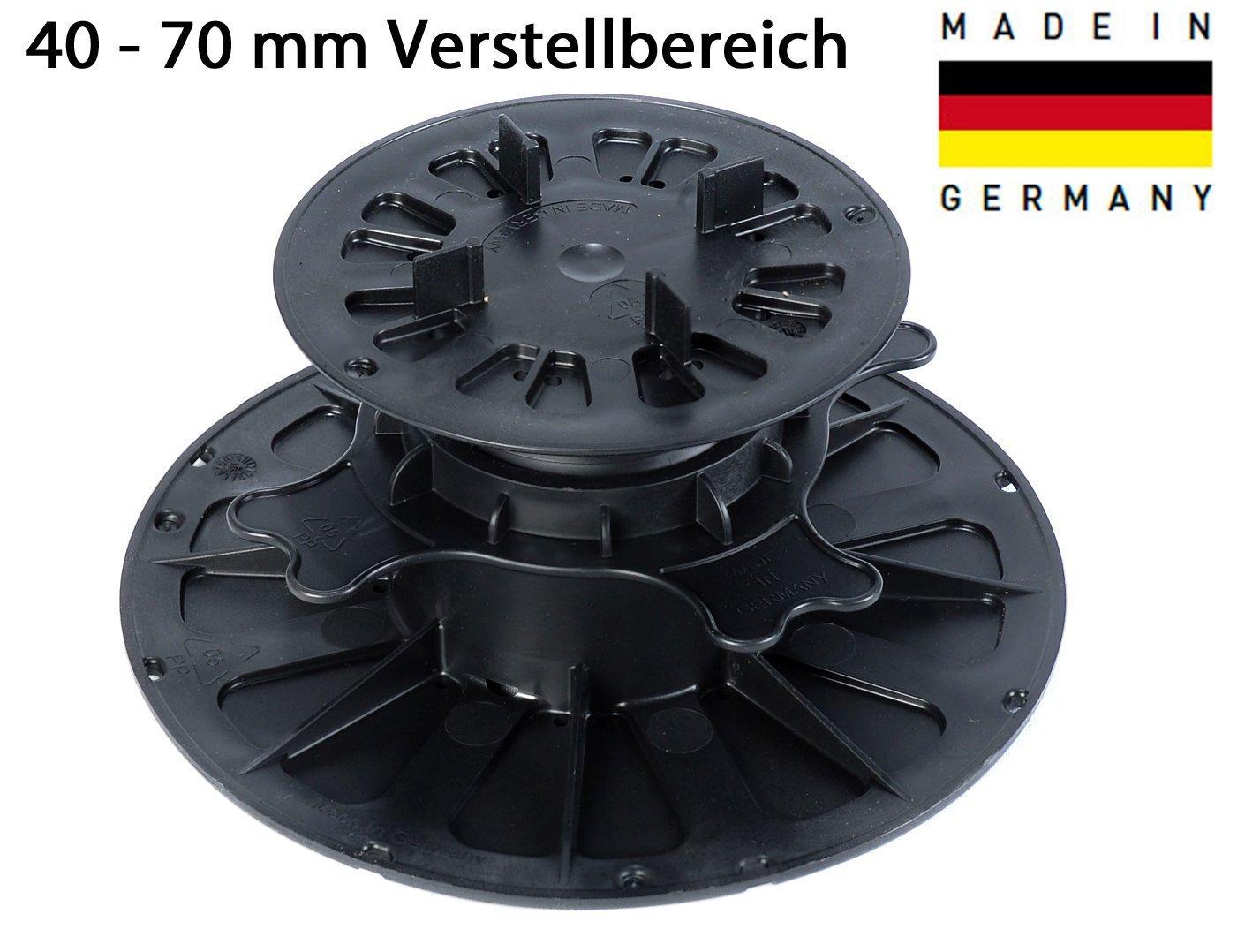 105 Stk., 40-70 mm Plattenlager für Platten, Fliesen, Keramik, Beton, Stein von Gartenwelt Riegelsberger