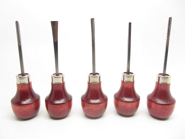 15pc Woodcarving Tools Gunsmith Linoleum Block Chisels Palm RAMELSON USA 106R 107 209