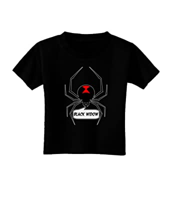 Amazon Com Black Widow Spider Design Text Toddler T Shirt
