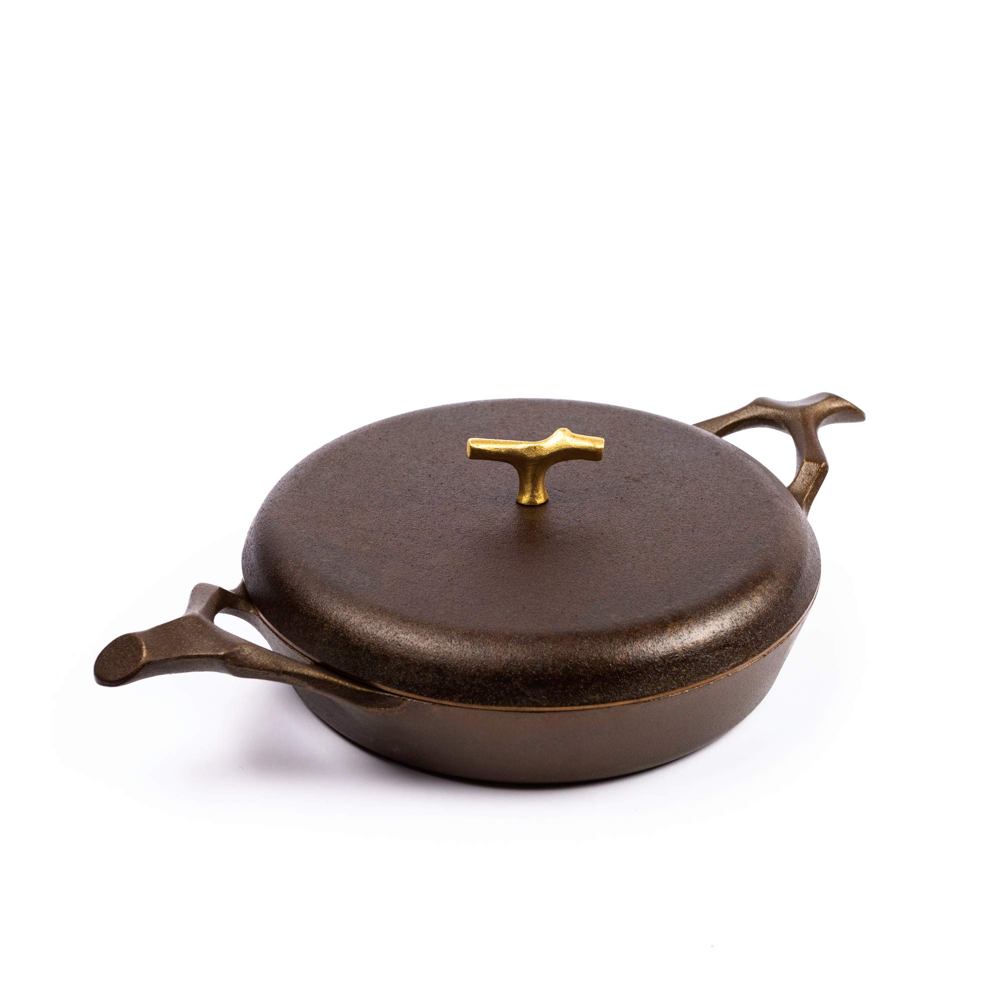 Nest Homeware Cast Iron 12 Inch Braising Pan with Lid by Nest Homeware