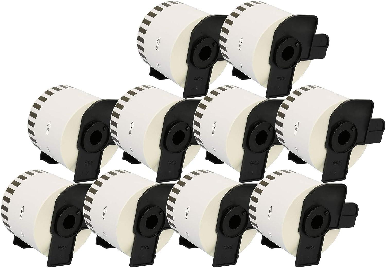 Prestige Cartridge 20x DK44205 62mm x 30.48m /Étiquettes adh/ésives enlevables continues pour Brother P-Touch QL-500 QL-550 QL-570 QL-700 QL-710W QL-720NW QL-800 QL-810W QL-820NWB QL-1100 QL-1110NWB