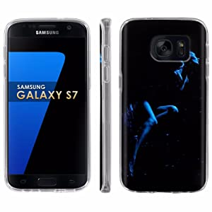 Samsung Galaxy [S7] Phone Case [ArmorXtreme] [Clear] Designer Image [Flexi Gel TPU] - [Sensual Blue] for Samsung Galaxy S7 / GS7
