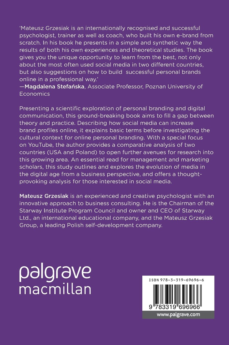 Personal Brand Creation in the Digital Age: Theory, Research and Practice