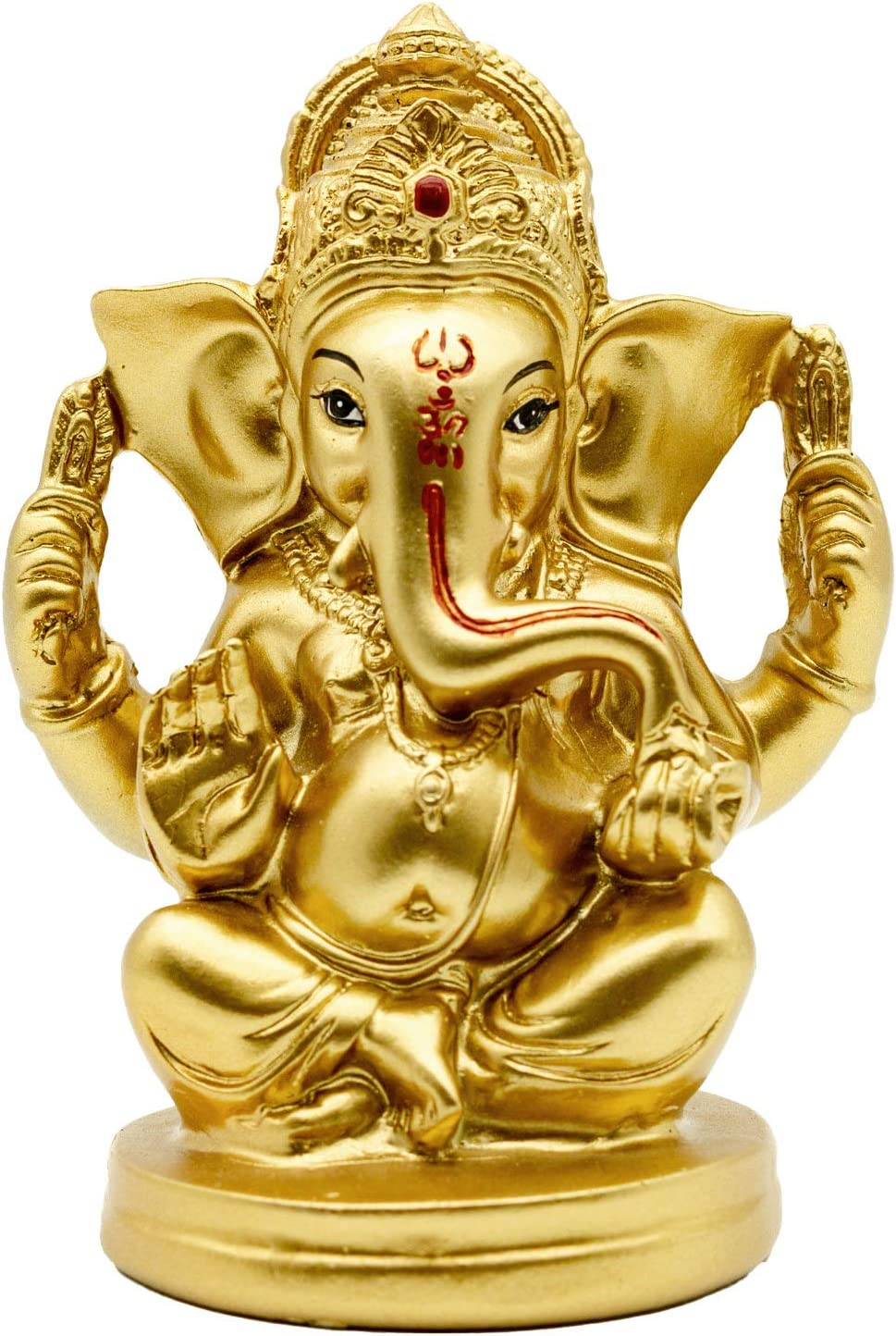 Hindu God Lord Ganesha Idol - Indian Ganesh Sculpture Elephant Statue - India Meditation Mandir Temple Puja Items