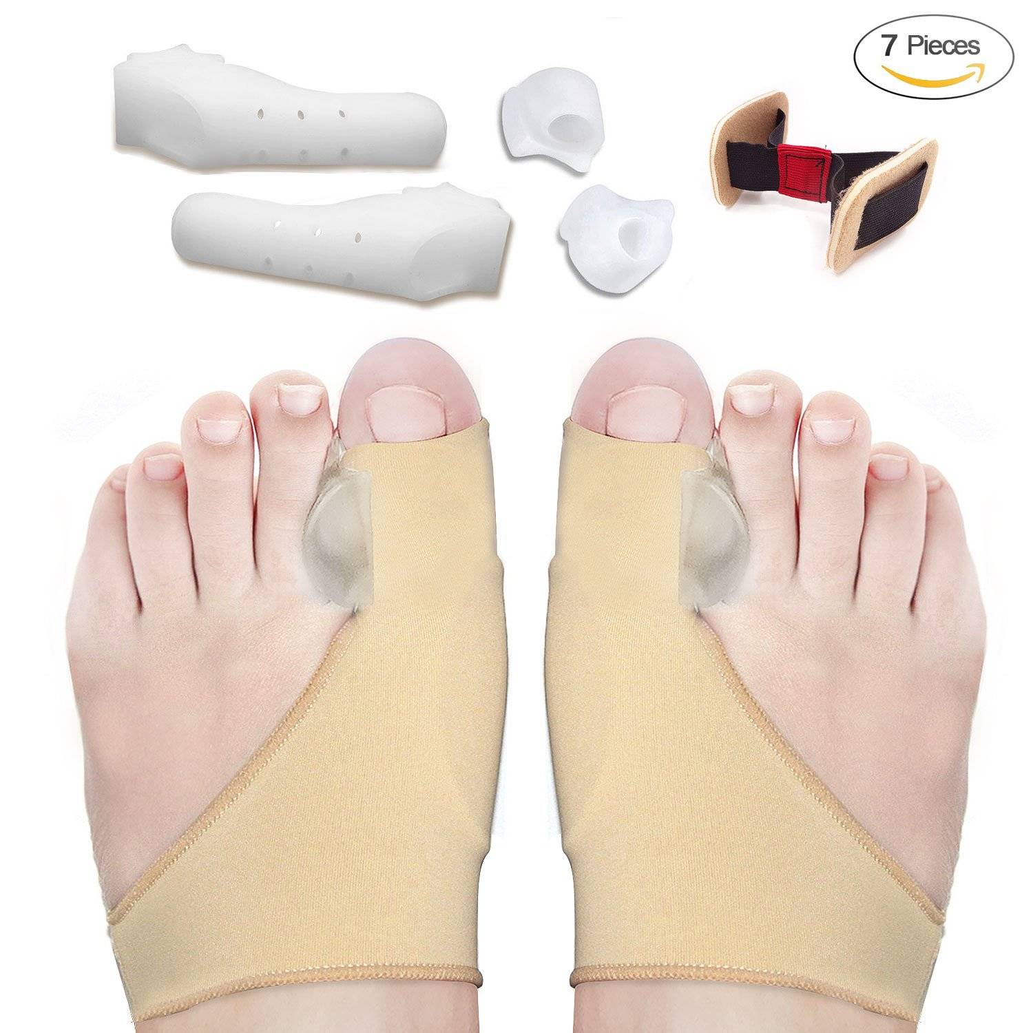 Bunion Corrector and Bunion Relief Sleeves Kit - Bunion Pads Food Pain Care - Gel Toe Separators Spacers Straighteners Splint Relieve Hallux Valgus,Tailors Bunion,Big Toe Joint,Hammer Toe