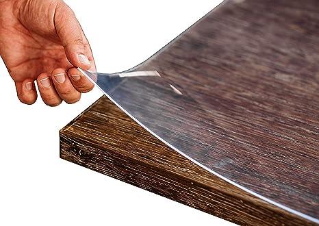 Tischdecke Tischschutz Tischfolie PVC  90 cm Breite transparent 1,6 mm