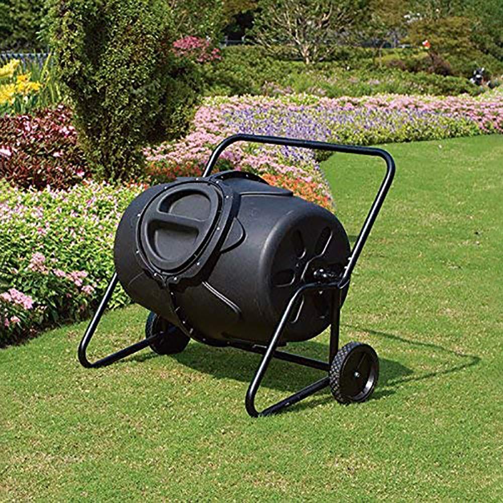 CRZJ Jardín Compost Vaso, Vaso de 50 galones con Ruedas ...
