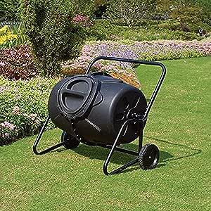 CRZJ Jardín Compost Vaso, Vaso de 50 galones con Ruedas compostador Yarda del jardín de Trabajo de Composición Fabricante de mantillo de residuos orgánicos: Amazon.es: Deportes y aire libre