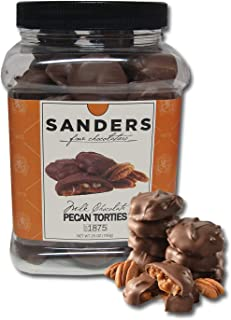 product image for Sanders Pecan Torties, Chocolate & Caramel Pecan Turtles, 25 oz Gift Tub