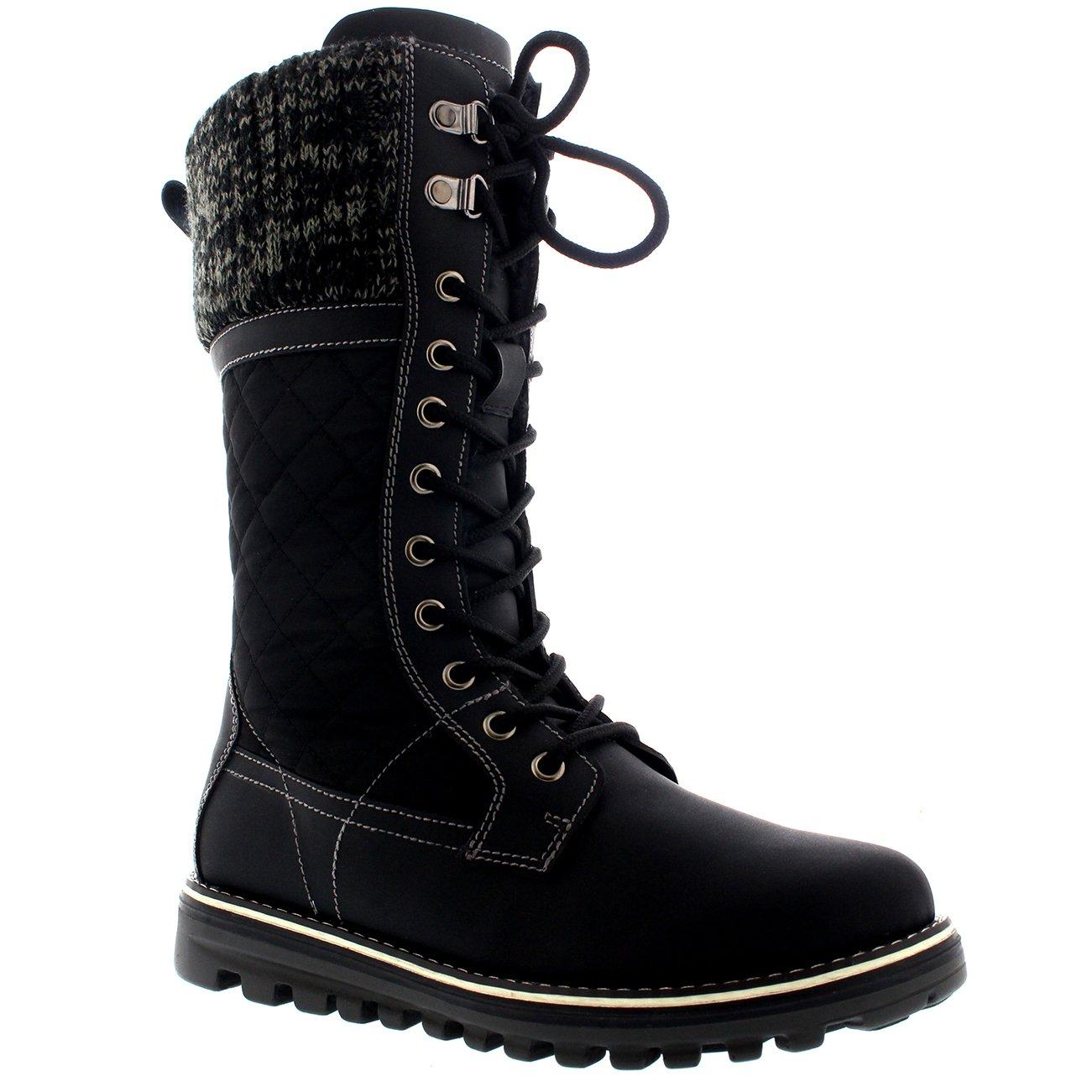 5c8fcaffc45e4 Polarr Femmes Neige Durable Thermique Hiver Warm Imperméable Mi-Mollet  Bottes  Amazon.fr  Chaussures et Sacs