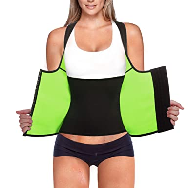 78a1793992fc5 Rolewpy Women Neoprene Waist Trainer Corset Weight Loss Sweat Vest Sauna  Body Shaper Cincher Workout Tank