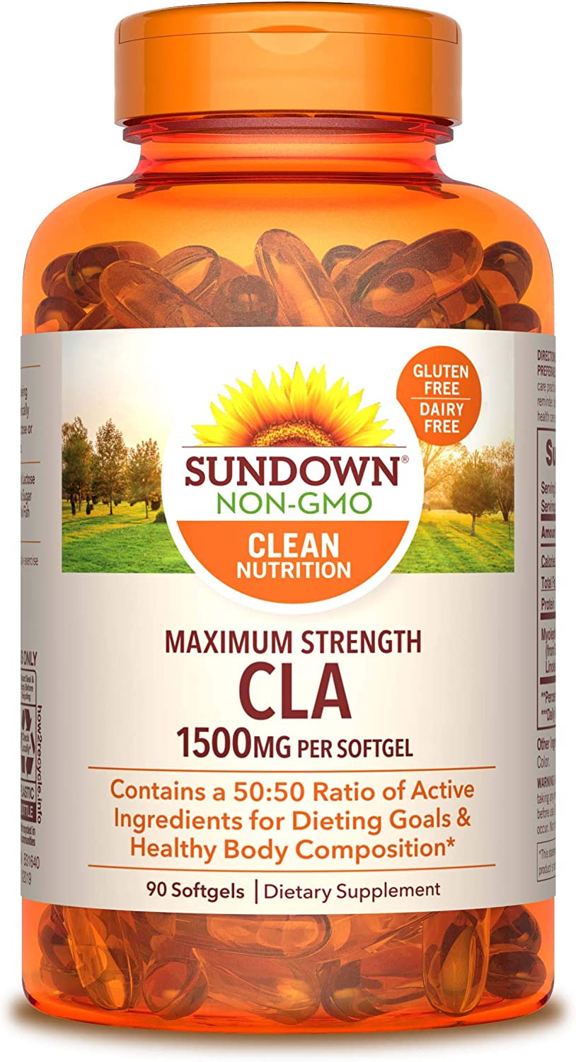 Sundown Maximum Strength CLA 1500 mg, 90 Softgels