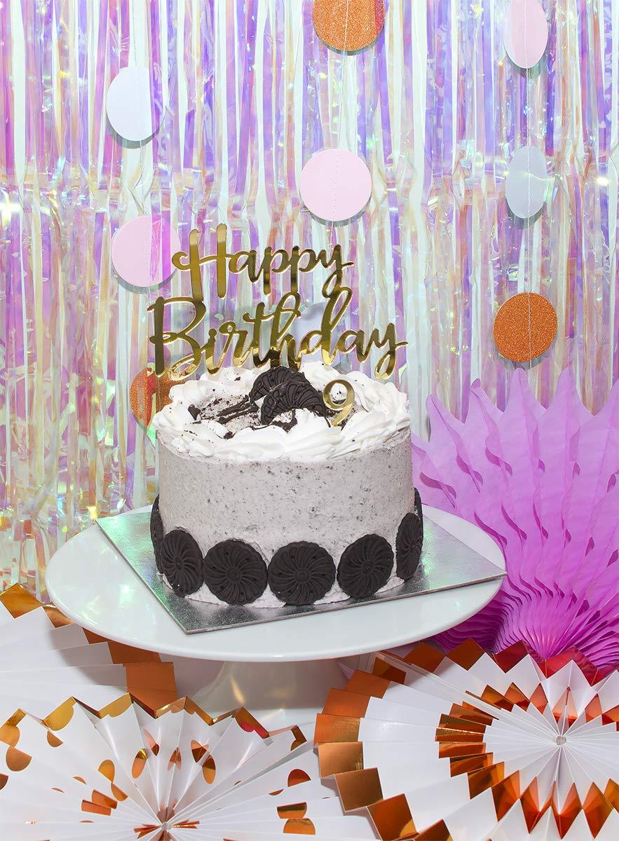 Sweet Wishes - Decoración reutilizable para tarta de cumpleaños, 11 piezas, color dorado