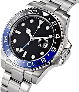 Fanmis GMT Master Sapphire Glass Blue and Black Ceramic Bezel Mens Automatic Watch