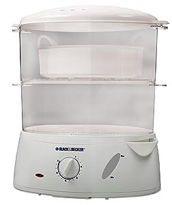 Black & Decker HS1050 7-Quart Food Steamer, White