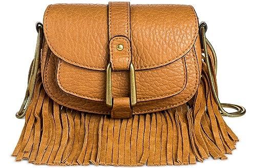 DV Womens Faux Leather Crossbody Handbag with Flap Closure (Cognac) Dolce Vita oZRfao1e