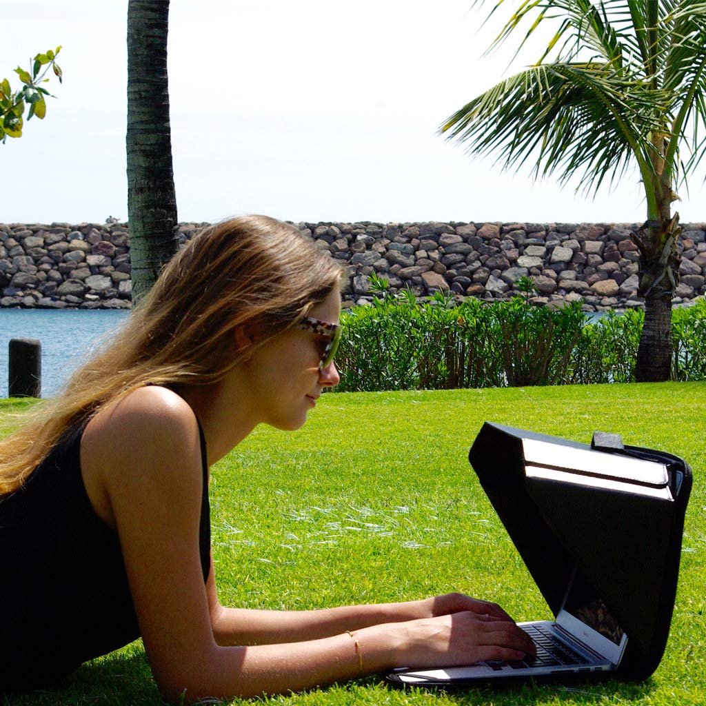 Laptop Sun Shade & Privacy Top Hood for Most 13,3'', Black | Universal | Only Cover Providing Complete Privacy, Confidentiality and Sun Protection | Patent No. D790551