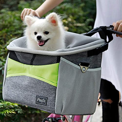 Petsfit-Safety-Dog-Bike-Basket-for-Small-Dogs-and-Good-for-All-Bikes