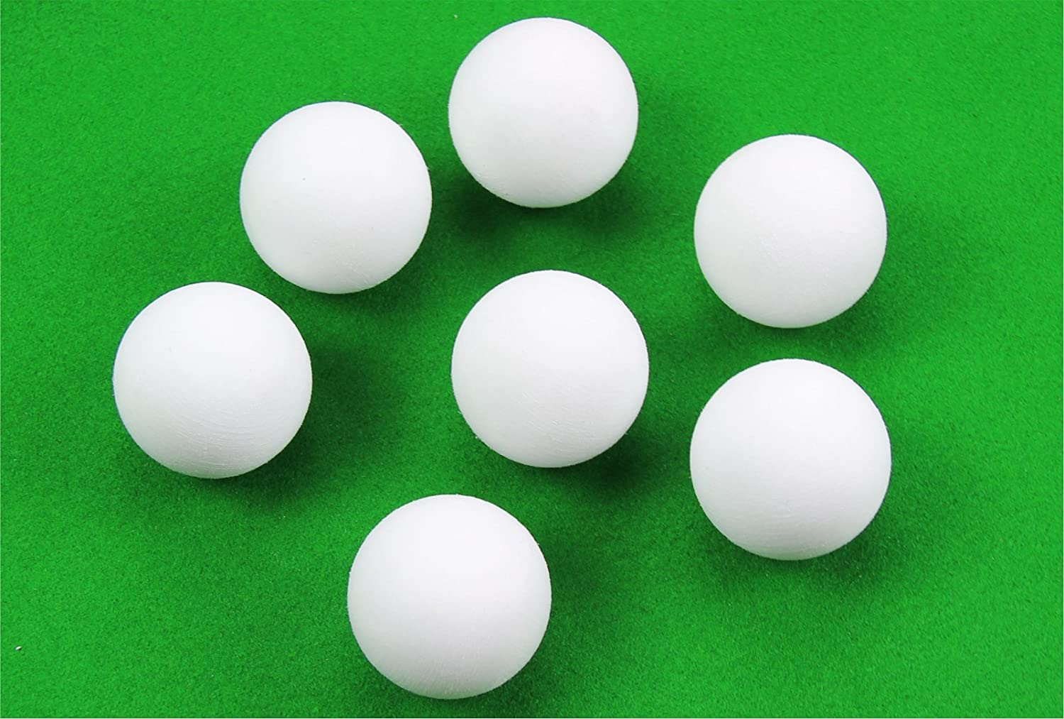 3 x 36mm SOLID WHITE SCUFFED Football Table Balls With Rubber Grip Coating! Unbranded