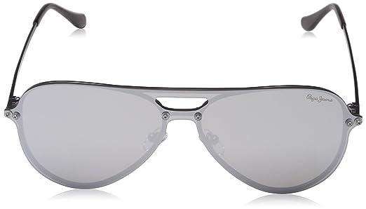 Pepe Jeans Sunglasses Briggs, Occhiali da Sole Uomo, Argento (Gunmetal), 143