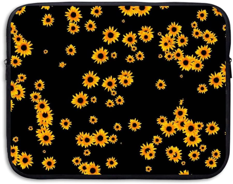 Business Briefcase Sleeve Sunflower Floral Pattern Laptop Sleeve Case Cover Handbag for 15 Inch MacBook Pro/MacBook Air/Asus/Dell/Lenovo/Hp/Samsung/Sony