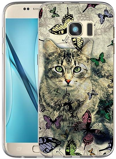 huge selection of 5b132 7c005 Amazon.com: S6 Case Cat/Galaxy S6 Cover Animal Design/IWONE Designer ...