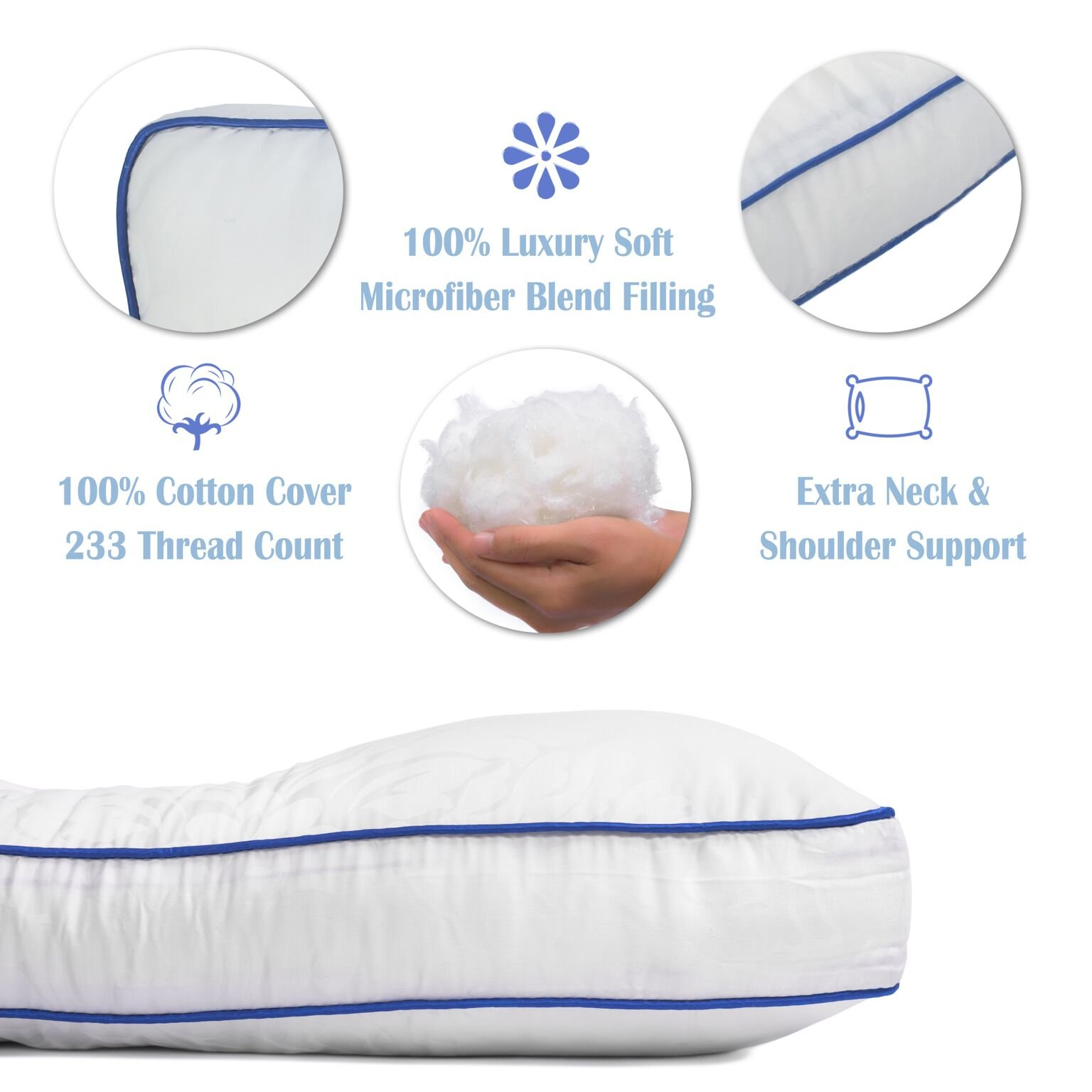Nature's Guest Cervical Support Pillow - Fully adjustable, doctor recommended contour design - Helps reduce neck and back pain, improve cervical health - Hypoallergenic, For back and side sleepers by Nature's Guest (Image #7)