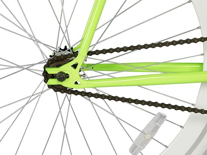 Rocasanto Bike - Bicicleta fixie v, tamaño 54, color verde ...