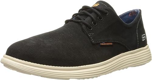De trato fácil Controlar Eso  Skechers Mens 64629 Status Borges Black Size: 9 M US: Amazon.co.uk: Shoes &  Bags