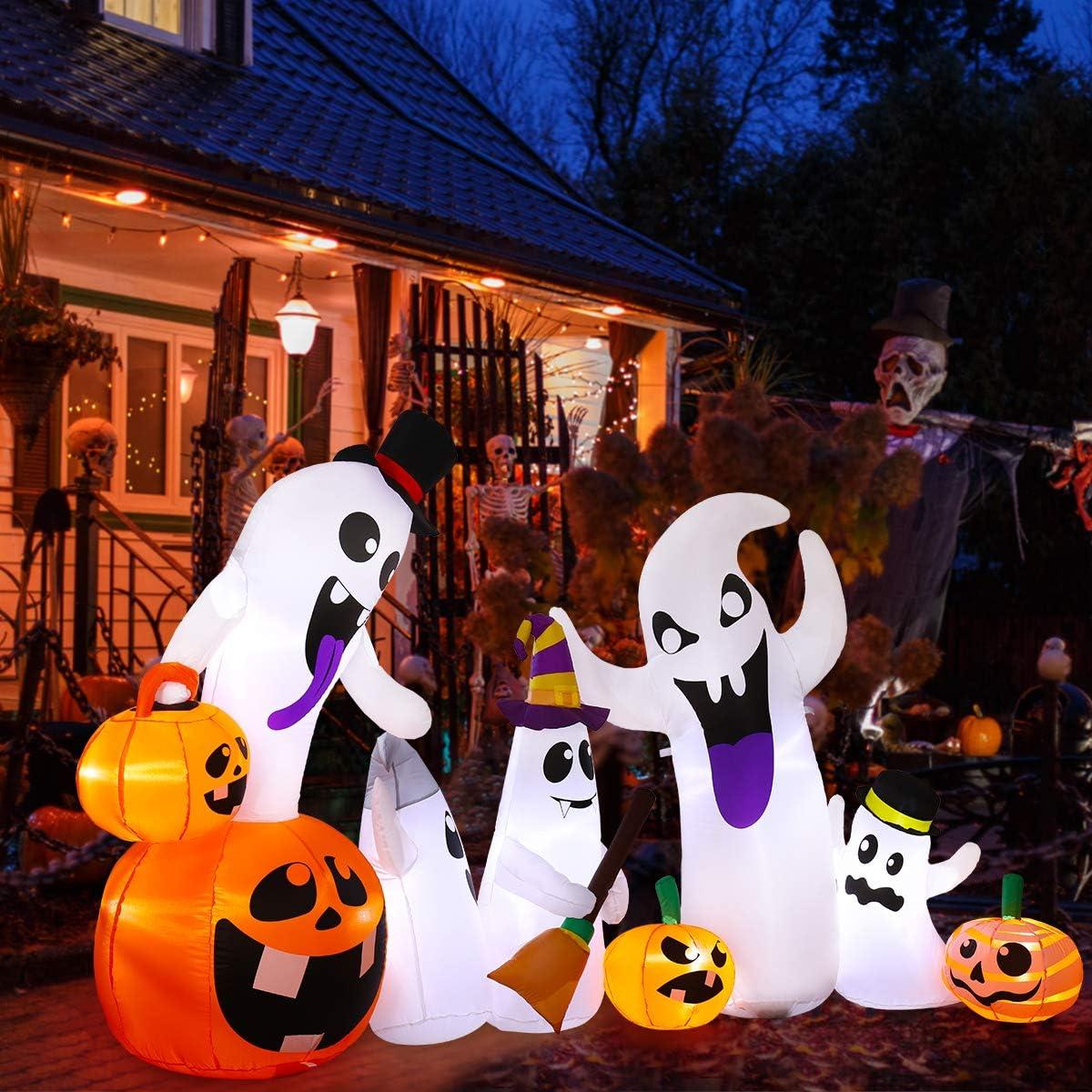 Halloween Inflatable Ghosts Pumpkin Ghost Inflatable Decoration Halloween swinging ghost with led illumination 8 FT