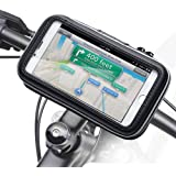 Waterproof Bike Mount, iKross Universal Bicycle Phone Handlebar Case Bag Cradle Holder for Apple, Samsung, Google, Huawei, LG, Motorola, Android Smartphone - Black