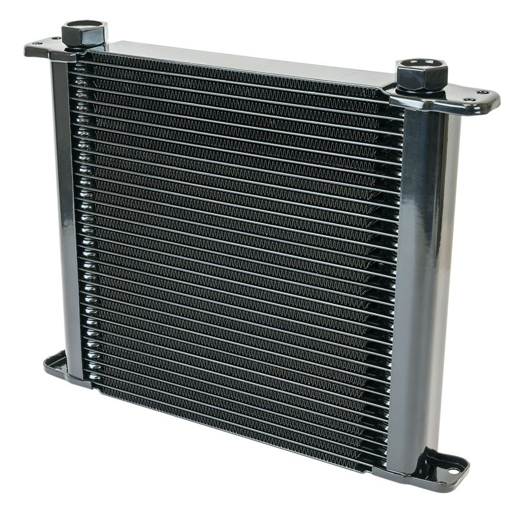 Flex-a-lite Stacked Plate 28-Row Engine-Oil Cooler 11 x 10 x 1 3//4 with AN Fittings 500028