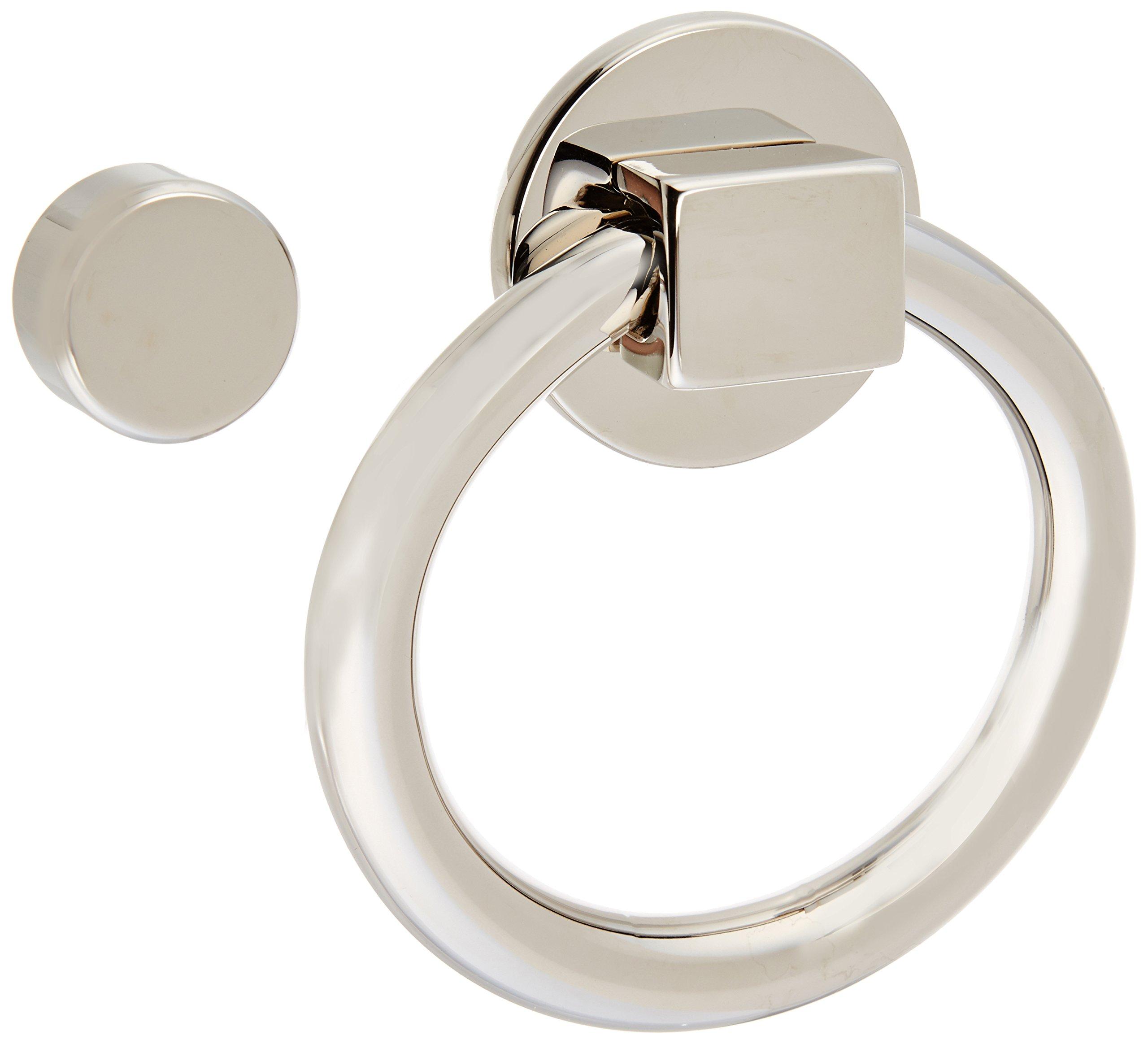 Baldwin 0195140 Ring Door Knocker, Bright Nickel